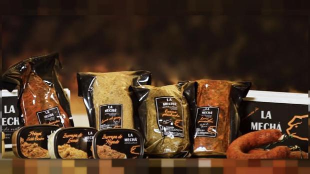 Productos de La Mechá, de la empresa Magrudis.