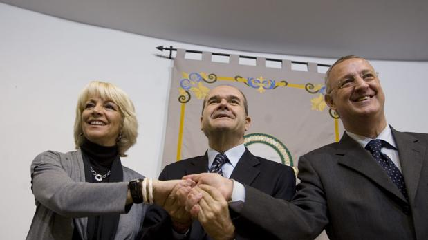 Momento de la firma del convenio en el año 2008.