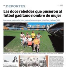 El reportaje publicado en La Voz de Cádiz.