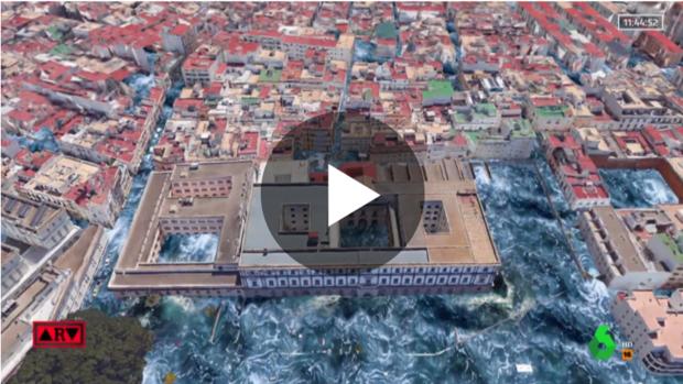 Recreación del tsunami de Cádiz de 1755 y las posibles consecuencias si ocurriese ahora con Realidad Aumentada
