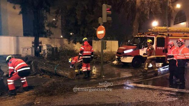 Incidencias durante la pasada noche en Sevilla