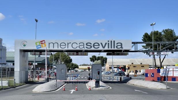 Entrada a Mercasevilla, en Sevilla Este