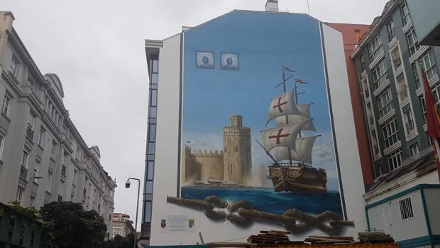 Mural de Santander, resultado de la iniciativa de Antonio Jiménez-Orta y Javier Pérez-Falces Gutiérrez