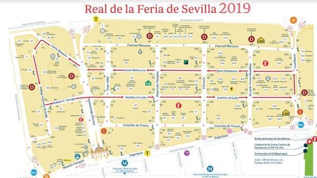 Mapa detallado de la Feria de Abril 2019
