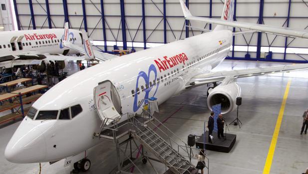 Un avión de la aerolínea Air Europa