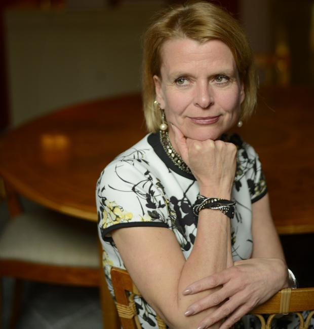 La ministra sueca posa para ABC tras la entrevista