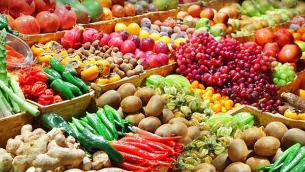 Imagen de archivo de frutas y verduras