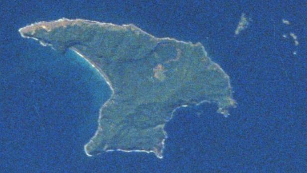 Isla Raoul, la mayor de las islas Kermadec, en el océano Pacífico Sur